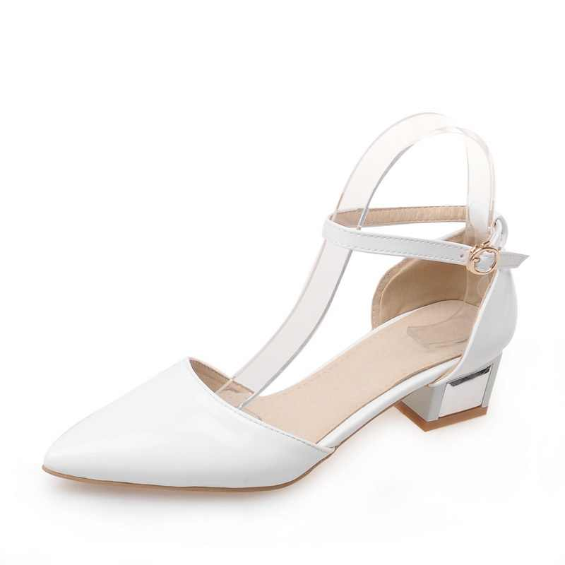 Grande taille 34-43 sandales dames plates-formes dame mode robe chaussures Sexy bout pointu chaussures à talons hauts femmes pompes 375-1