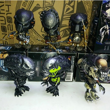 6 PCS HOTTOYS COSBABY AVP Action Figures,8CM Figure Collectible Toys,Action Figure Collectible Brinquedos Kids Model Toys Gift