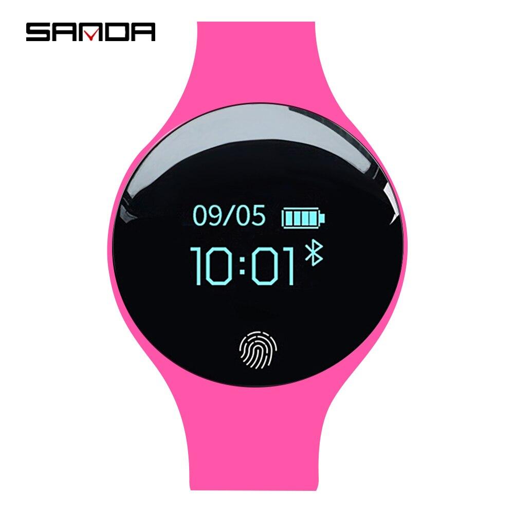 SANDA Luxus Smart Uhr Frauen Sport Armbanduhr Kalorien Schrittzähler Fitness Uhren Für Android IOS Telefon Schlaf Tracker SmartWatch