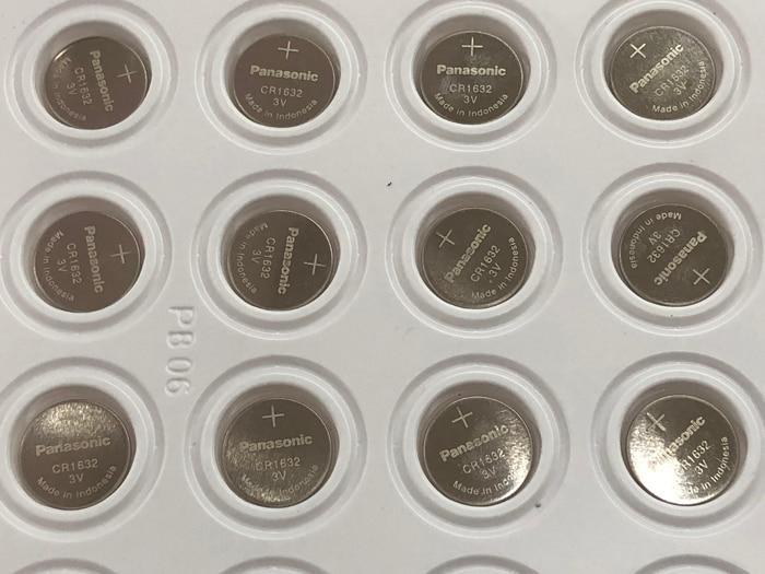 50pcs/lot New Original Panasonic CR1632 1632 DL1632 3V Lithium Batteries Cell Button Coin Battery