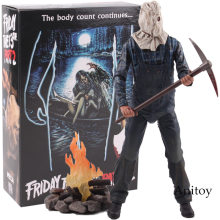 NECA Friday the 13th Part 2 Horror Jason Voorhees Brinquedos PVC Figuras de Ação Collectible Modelo Toy Dolls(China)