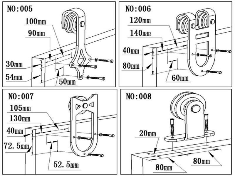 6.3 X 16 Mm Euro vis de montage Draw coureurs charnières de meuble Tête plate Vis