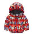 Новая зимняя мальчик девушка куртка дети птица куртка с капюшоном для мальчика девушки молния куртки хлопка верхняя одежда дети одежда верхняя одежда
