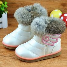 2016 Winter Children Shoes Baby Toddler Shoe Child Women Patch Snow Boots Kids Girls Warm Boots Sneakers Brand infantil QUXSE