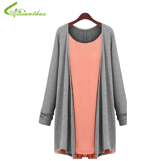 Pregnant Woman T-shirt Long Sleeve Chiffon Splice Knitwear T-shirts Maternity Dress Plus Size Spring Clothing Free Drop Shipping