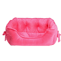 4 Colors Bow tie Super Meng cute Princess Pet Dog Bed Soft Fleece Cat House Winter Warm Small Puppy Bed For Chihuahua S/L