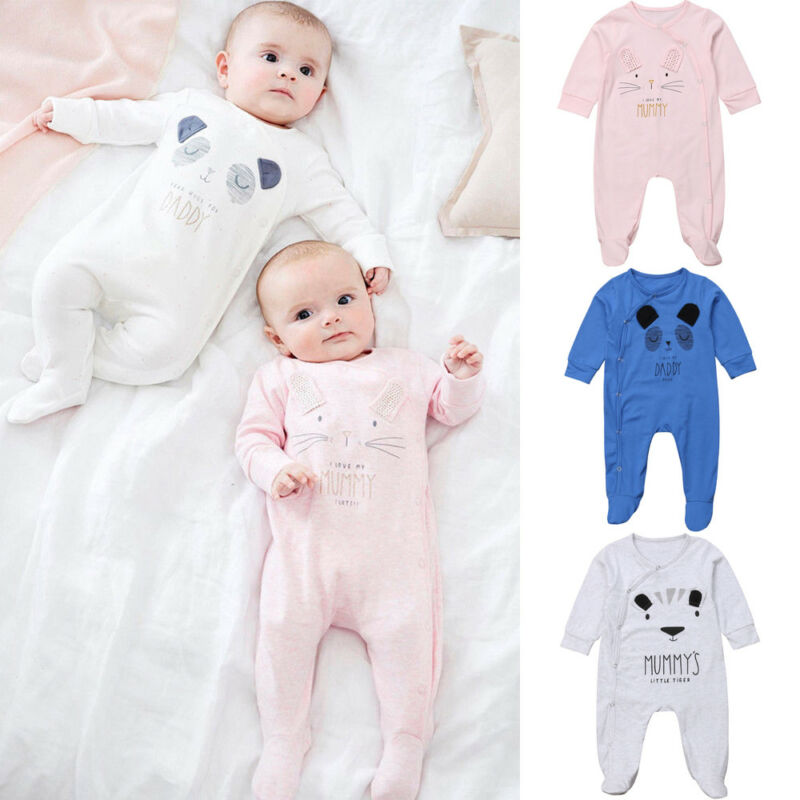 Infant Boys Girl Romper Bodysuit Jumpsuit Summer Clothes Outfits Cartoon Cute