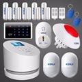 2016 KERUI W2 Wireless WIFi GSM PSTN TFT UI menu Home Alarm System 1080P 2MP IP Camera Wireless Smart Socket