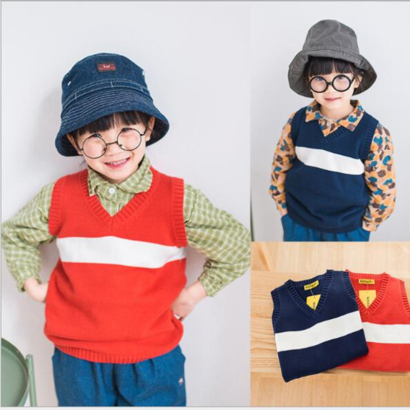f1541dbf67c9 Funfeliz Kids Clothes Tops 2018 Autumn baby Boy Vest Sweater Cotton ...