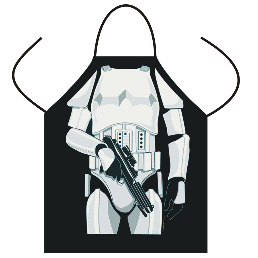White apron melbourne - Aliexpress Com Buy Funny Star Wars Aprons Black White Warrior Apron Cartoon Cosplay Party Bibs Darth Vader Storm Trooper Wholesale Cooking Apron From