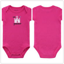 Autumn 1 Piece Cotton Style Baby Girl Boy Clothes Short Sleeve New Born Body Baby Ropa Character Pink Baby Bodysuit r037