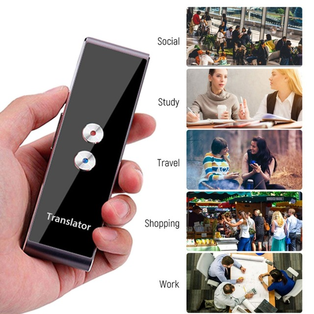 Pocket Language Translator Voice 30 Languages Two Way Real Time Intercom Portable Translator For Personal Learning Travelling 5