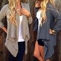 Женская мода Кардиган Свободные Свитера С Длинными Рукавами Трикотажные Куртки И Пиджаки Пальто