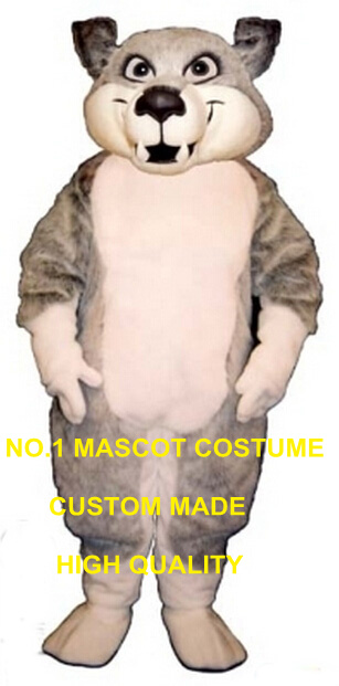 Wolf mascot costume professional custom cartoon grey wolf coyote theme halloween anime cosplay costumes carnival fancy 2788