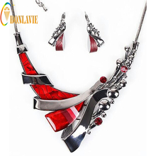 Jewelry Sets for Women Resin Short Style Multicolor Easy to Match Alloy Necklace/Earrings Jewelry Sets Party