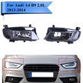For AUDI A4 Quattro B9 2.0L Facelift 4-Door 2013 2014 Car Front Headlight Assembly DRL Head Lights Left & Right #P299