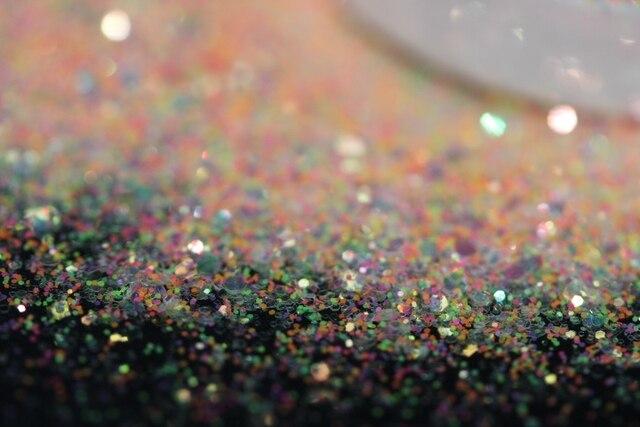 Helado Opal Deluxe purpurina mezcla, efectos de ópalo de resina, Color blanco claro con brillo de ópalo fino de neón