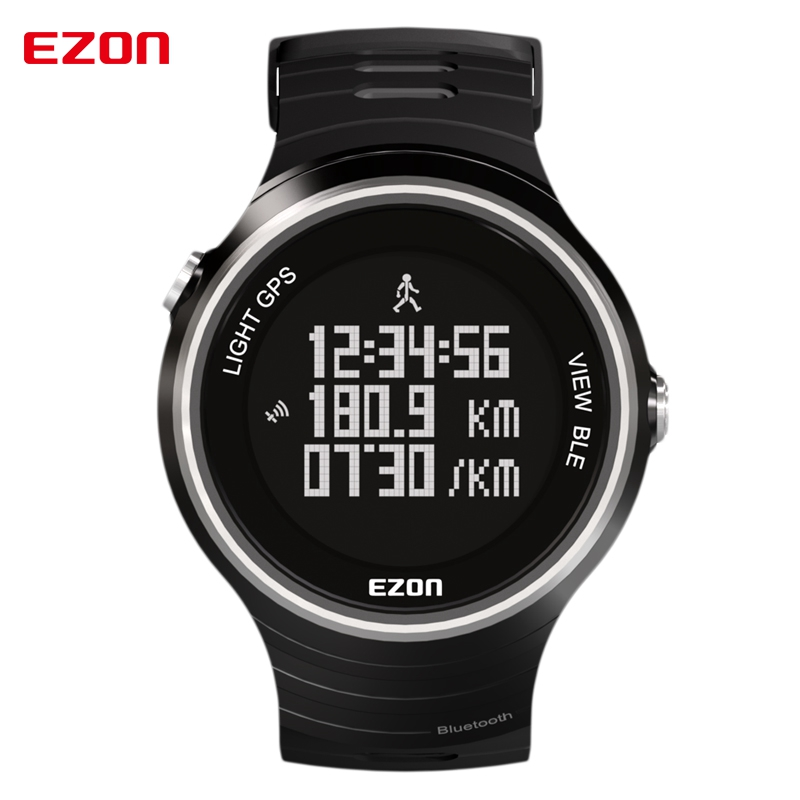 EZON Pedometer Smart Bluetooth GPS Sport Watches Waterproof 50m Calories Count Digital Watch Running Wristwatch for IOS Android ezon fashion rubber clock women colorful watch sports running watches speed pedometer calories counter digital wristwatch