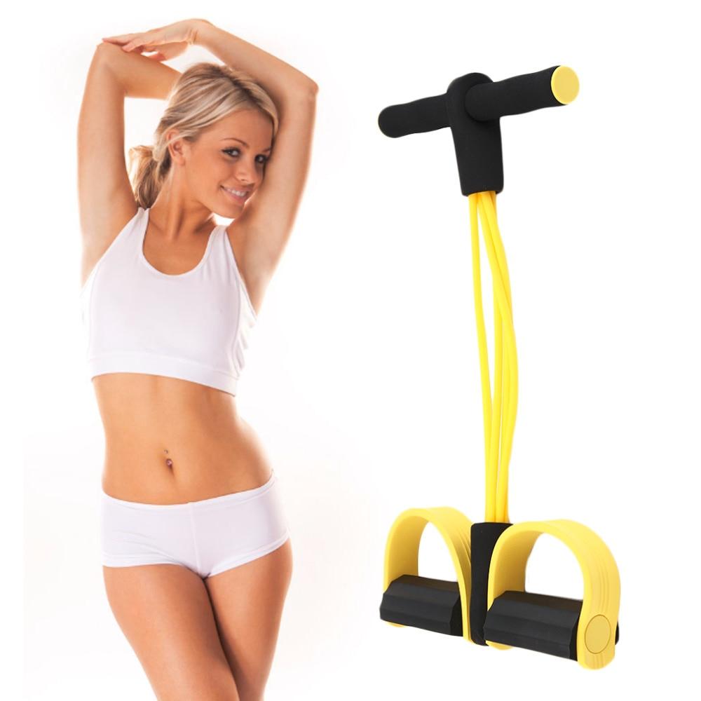 Vier Elastische Band Fitness Weerstand Band Touw Oefening Apparatuur Voor Yoga Pilates Workout Latex Tube Pull Rope Drop Verzending