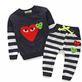 Fashion Baby Clothing Set Autumn Winter Kid Girl Heart Warm Sets Korean Style 2pcs Children T-shirt Pant Baby Boys Brand Clothes