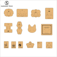 Kraft Paper Card Brooch Necklace Earrings Display Cards Jewelry Tag Holder Card Customize Logo/Shape/Size Design Wholesale