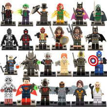 960pcs/lot Super Heroes Marvel Assemble Avengers DC Captain America Minifigures Building Blocks Sets Bricks Mini Figures Toys