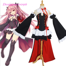 Anime cosplay Seraph of the end Cosplay costume Vampire Queen Krul Tepes Clothes Skirt Jewelry Set Halloween Party Costumes S-3X все цены