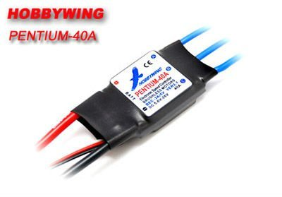 Free Shipping Hobbywing Pentium 40A Speed Controller for brushless motor with 3A Switch UBEC (HW40A)