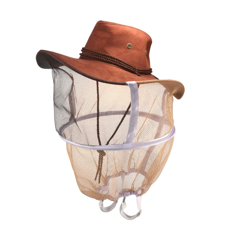 Beekeeping Hat Beekeeper Hat Mosquito Bee Net Veil Full Face Neck Cover  Outdoor Bug Mesh Mask Head Protective Cap-in Protective Clothing  Accessories from ... 5f4eb852477f