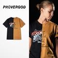Provergod projeto engraçado do verão dos homens de manga curta camisa patchwork t hip hop clássico skates marca o-pescoço clothing s-xl