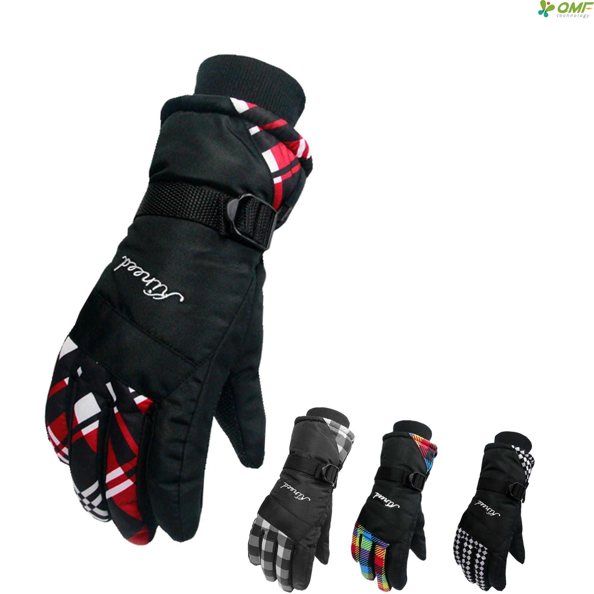 Prix pour Multicolore Plaid Motoneige Ski Gants D'hiver Étanche Sport Snowboard Gant Windstopper Chaud Moto Mitaines Hommes Anti-Dérapage