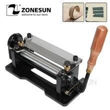 ZONESUN Leer Skiving Machine Band Splitter Handvat Peeling Machine Tools Voor Plantaardig Gelooid Leer DIY Schop Huid Machine