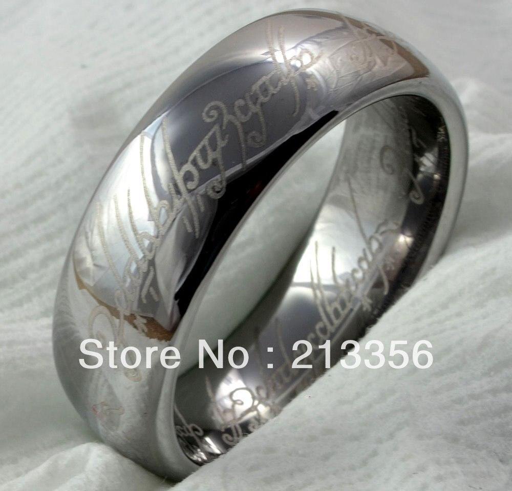 Cobalt Rings titanium mens wedding band Cobalt Chrome 8MM Black Diamond Pipe Cut Wedding Band Ring