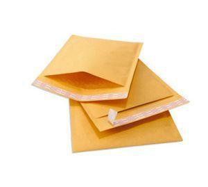 100 pcs/lots jaune Kraft bulle postale enveloppe sacs bulle enveloppes rembourrées emballage expédition sacs 11x13 cm