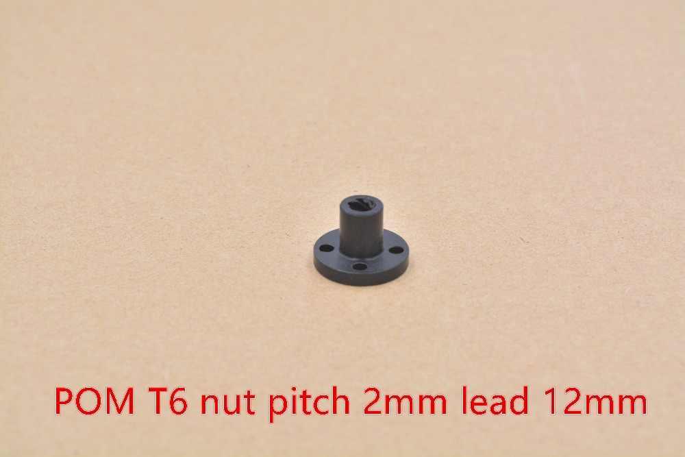 T6 porca trapezoidal parafuso de bronze de cobre chumbo 1mm 2mm 4 milímetros 6mm 12mm 1 pcs