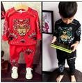 Autumn Children's Boys Clothing Sets Designer Tracksuits For Boys Cartoon Tiger Fleece+Pants 2Pcs Infant Kids Sport Suit Outfits