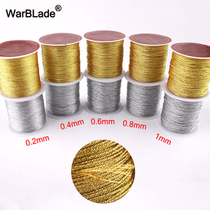 Gold Silver Cord 0.2mm 0.4mm 0.6mm 0.8mm 1mm Nylon Cord Thread String Rope Bead Wires For DIY Handmade Braided Jewelry Making