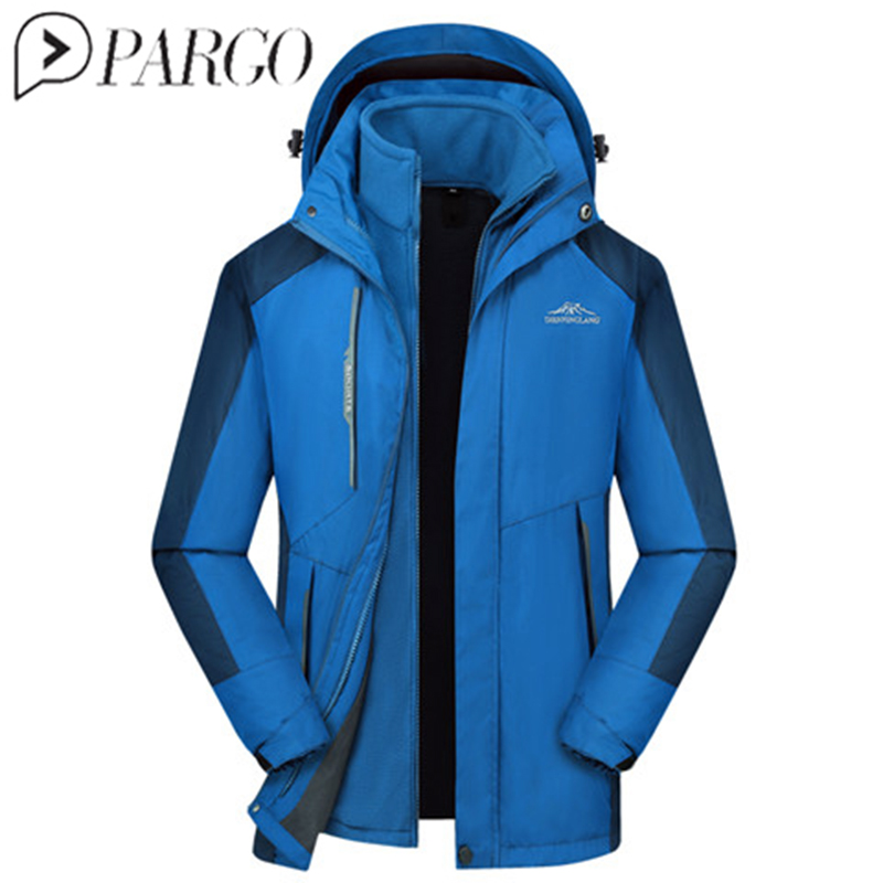 men's Winter 2 Pieces Fleece Warm Outdoor Sports Thermal Coat Hiking Camping Trekking Climbing Skiing male Windbreaker rax 2015 thermal fleece hiking pants for men women winter outdoor sports warm fleece trousers fleece camping pants 54 4f089