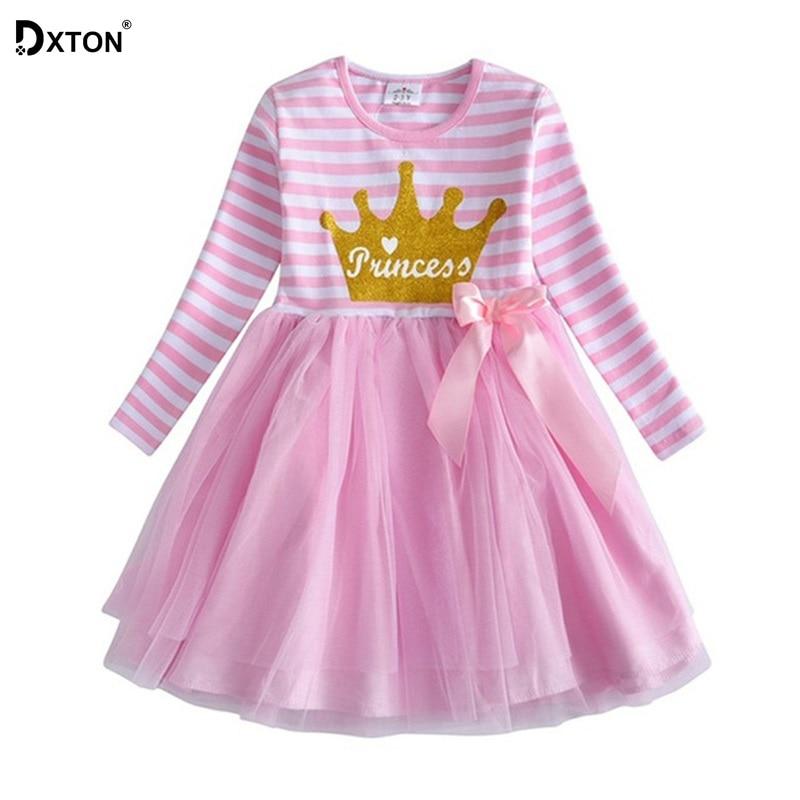 Dxton Kids Dress For Girls Cartoon Girls Clothes With Animal Girls Dress Long Sleeve Autumn and Winter Dress Children Clothing 1