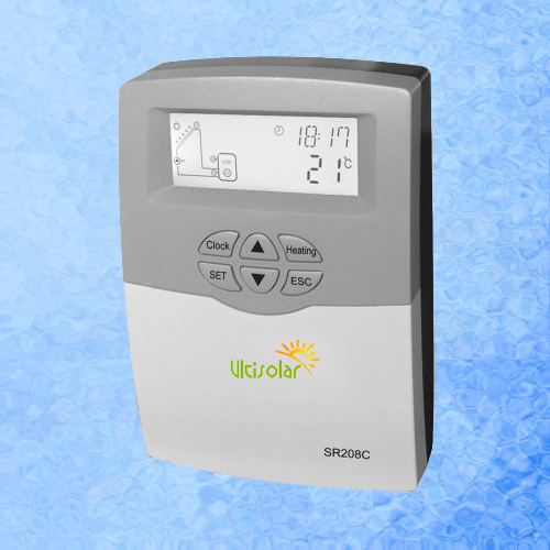 SR208C Solar Controller Water Heater Controller for split solar system 600W 1 pt1000 and 2 ntc10k