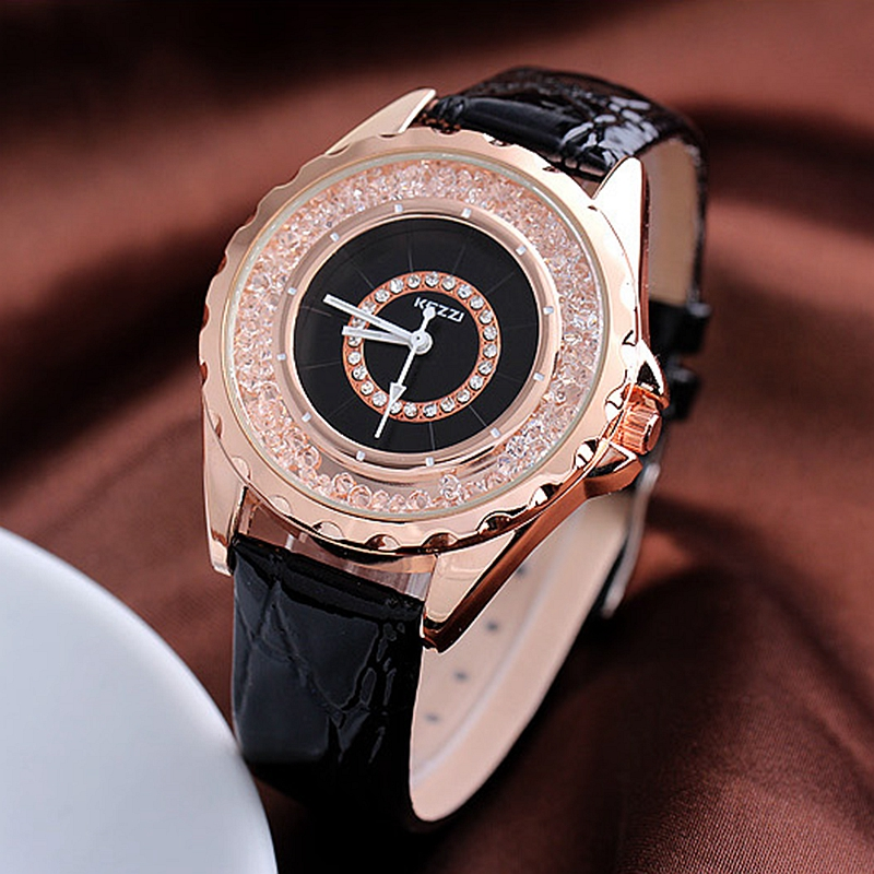 KEZZI Brand Leather Strap Watches Women Dress Watch Relogio Ladies Wristwatches/Clocks Designer Ladies Gift Quartz Watch/Reloj. mance ladies brand designer watches
