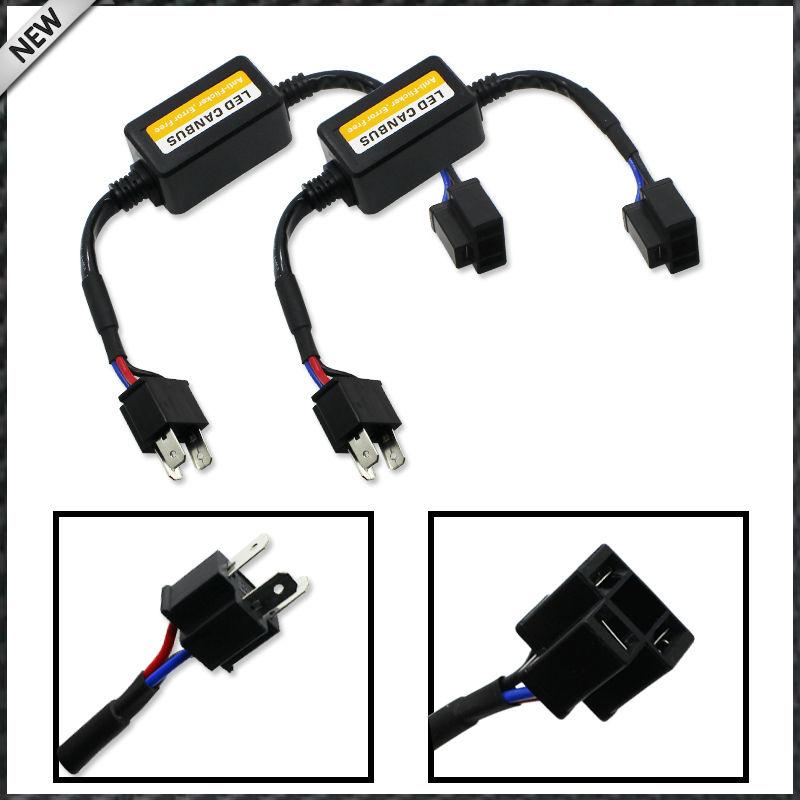 Prix pour (2) H4 9003 HB2 LED Phare Canbus Sans Erreur Anti Flicker Resistance Canceller Décodeurs (Plug-In-jouer)