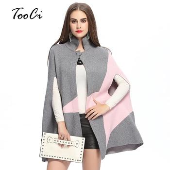 Autumn Winter New Fashion Fringe Women's Woolen  Coat  Poncho Woman cloak Clothing  knit cardigan