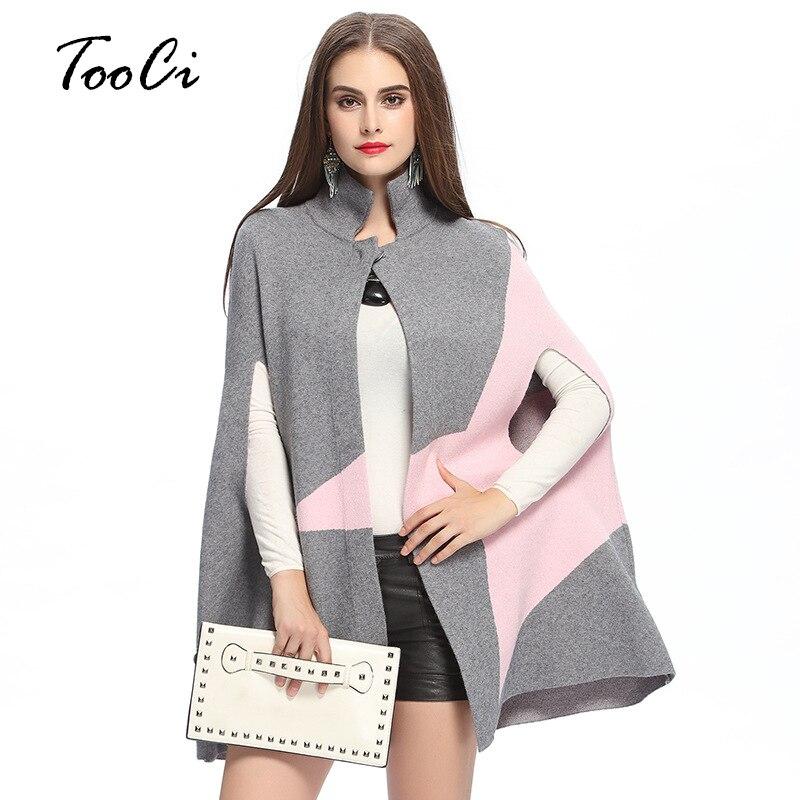 Primavera nueva moda Fringe mujer abrigo de lana Poncho