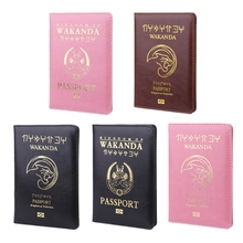 Travel Accessories Passport Wakanda Holder Cover Storage Function PU Leather Casual Busines Case ID Credit Card Organizer Wallet new pu leather passport cover holder women men travel credit card holder travel id card document passport holder