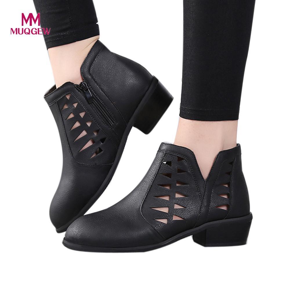 375a01fa1f0 Negro Corto Tacones Tobillo khaki Grueso Bajos Hueco Llegada Moda Mujer  Talón 2018 Botines Chunky coffee Zapatos Botas Nueva Vintage De zTwxnqROf