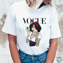WVIOCE New Fashion Graphic Women T Shirt Harajuku Short Sleeves Tops Woman T-shirt Vintage Funny Cartoon Female Tees