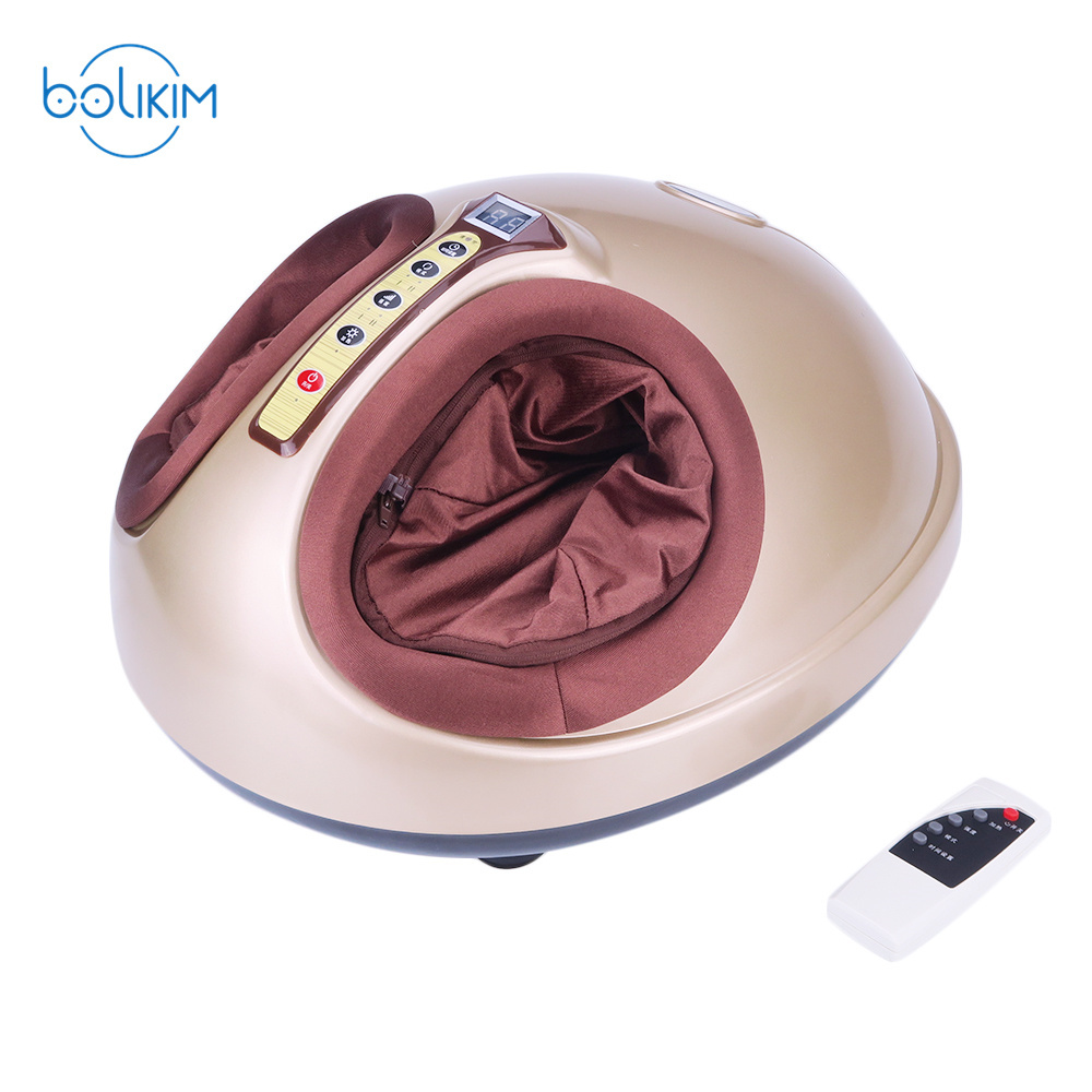 BOLIKIM Hot Electric Foot Massage Machine For Health Care Infrared With heating therapy 3d electric foot relax health care electric anistress heating therapy shiatsu kneading foot massager vibrator foot cute machine