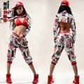 Hot! New fashion 2016 Women Hip hop pants dance wear ds sweatpants costumes loose casual female pant harem trousers