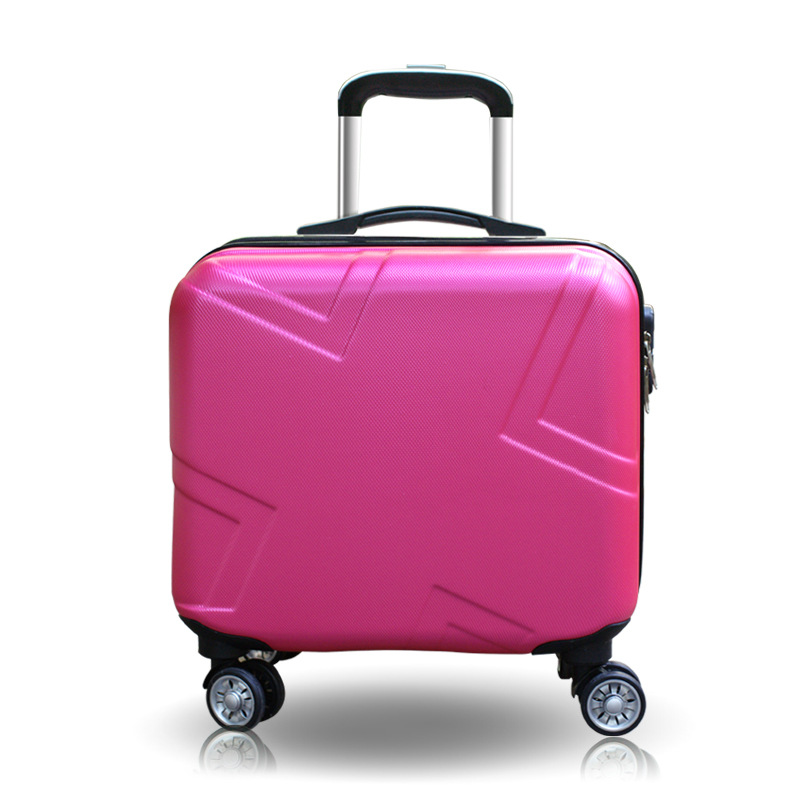 Women 18 Inch ABS Suitcase and Cosmetic Case GirlsBoys Travel Suitcase Spinner Zipper Luggage with Toiletry Bag Sold Separately